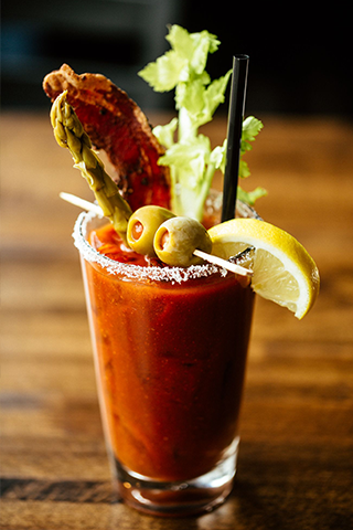 Bruncheonette bloody mary with bacon